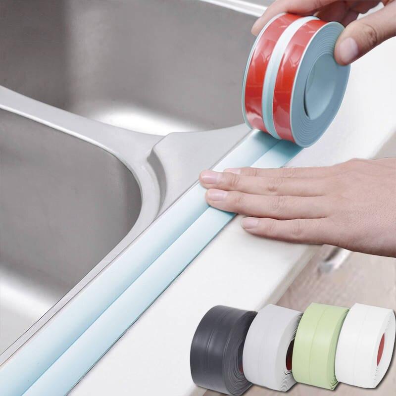 Водонепроницаемая маслостойкая лента, лента для кухонной раковины, клейкая лента для туалетной пасты в ванной