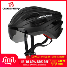 QUESHARK Bike Helmets Goggles Riding-Caps Road Mountain Safety MTB Breathable Windproof