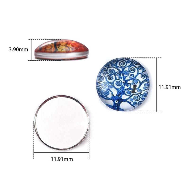 10pcs//lot Mixed Tree of Life Glass Cabochon Scrapbook Spacers 25mm Sale