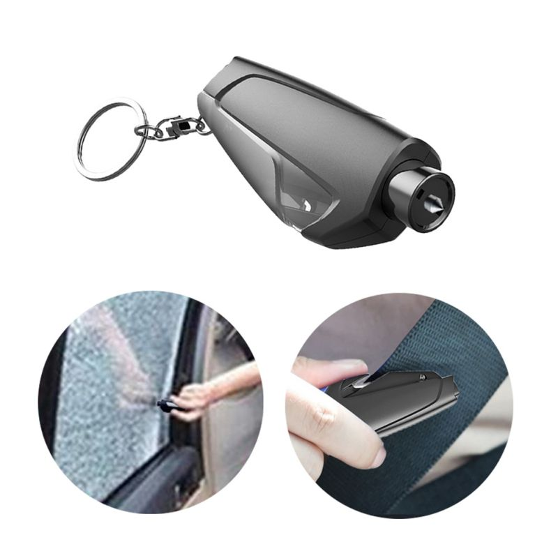 Keyring Emergency Car-Window-Breaker-Tool Safety-Hammer Mini Whistle Aid Seatbelt-Cutter title=