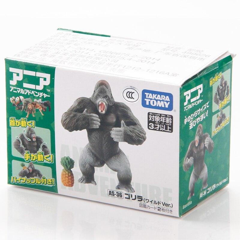 Takara Tomy ANIA AS-09 ANIMAL Gorilla Mini Action Figure Educational Toy Japan