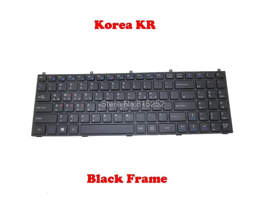 Laptop Keyboard for CLEVO W270HSQ W270HUQ W271BUQ W271BZQ W271CZQ W271EFQ W271EGQ W271ELQ W271ENQ W271EUQ W350HU W350HV W350ST W351HU W351HV France FR Black Frame