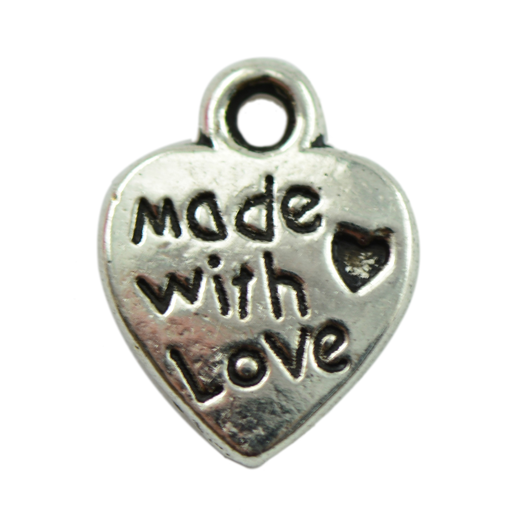 Phenovo 50x Alloy Vintage Tibetan silver color Heart Charms Pendants for necklaces bracelets earrings DIY Crafts Jewelry Finding