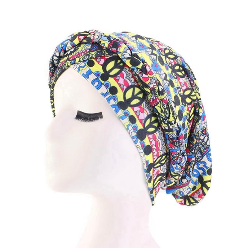 Bohemian Floral Turban Cap Muslim Hat Ethnic Costume Hat Chemotherapy Cap Female Bandanas Headwear Hair Accessories