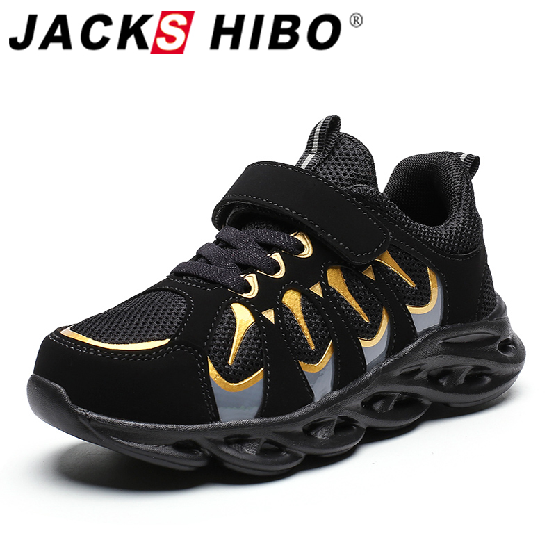 Jackshibo Anti-slip Sport Sneakers For Children Boy Outdoor Sport Running Shoes Sneakers Shoes Kid's Breathable Footwear Shoes title=