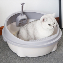 Cat-Litter-Box Toilet Tray Semi-Enclosed Splash-Proof-Toilet with Puppy-Cat Indoor Teddy