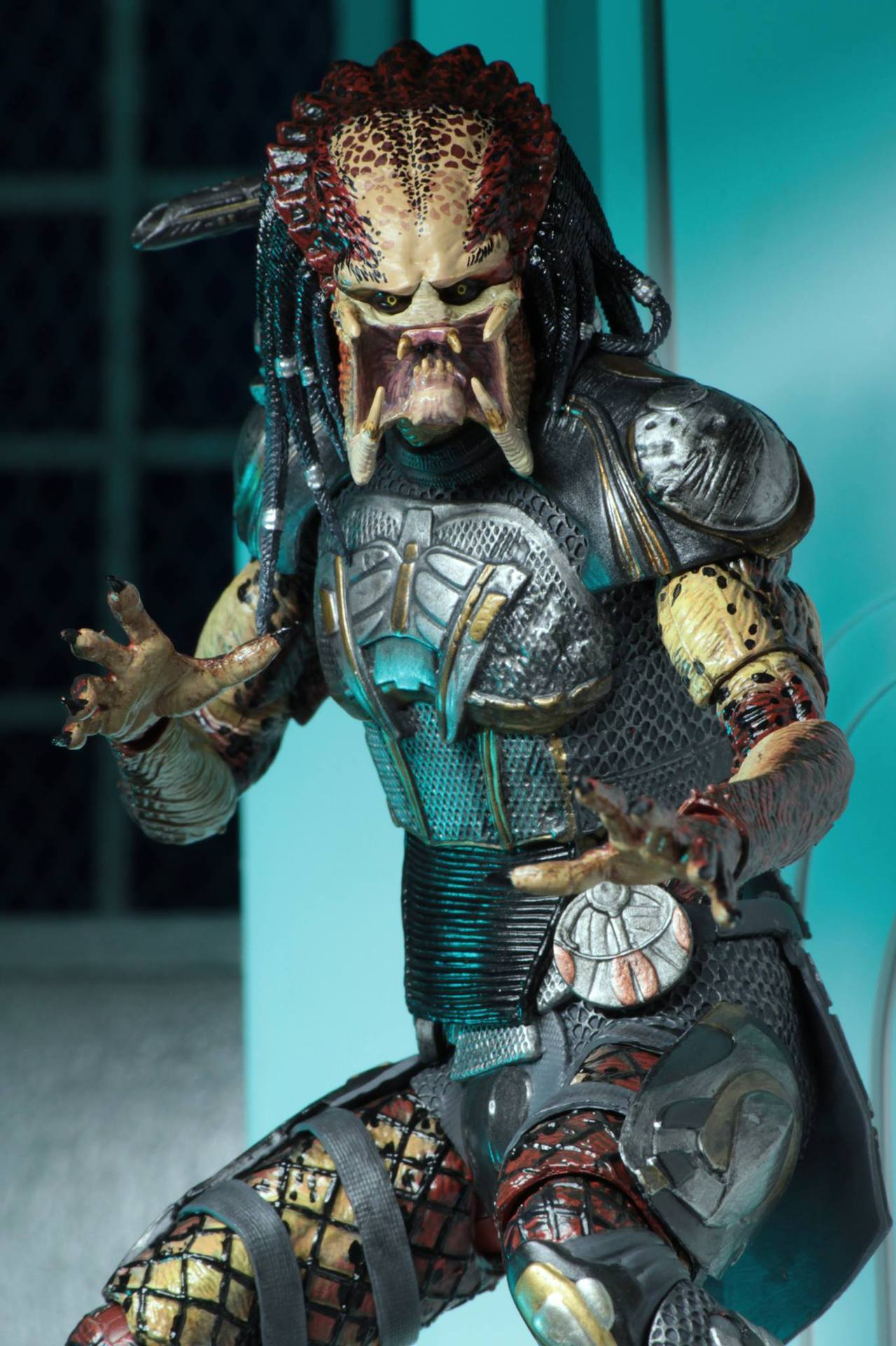 2pcs Head 2018 New NECA Aliens vs Predator Ultimate Fugitive Predator Unmasked Scarface Action Figure Toy Doll (9)