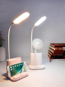 Desk-Lamp Bedside Dimming-Adjustment Study Touch Bedroom LED USB Reading Living-Room
