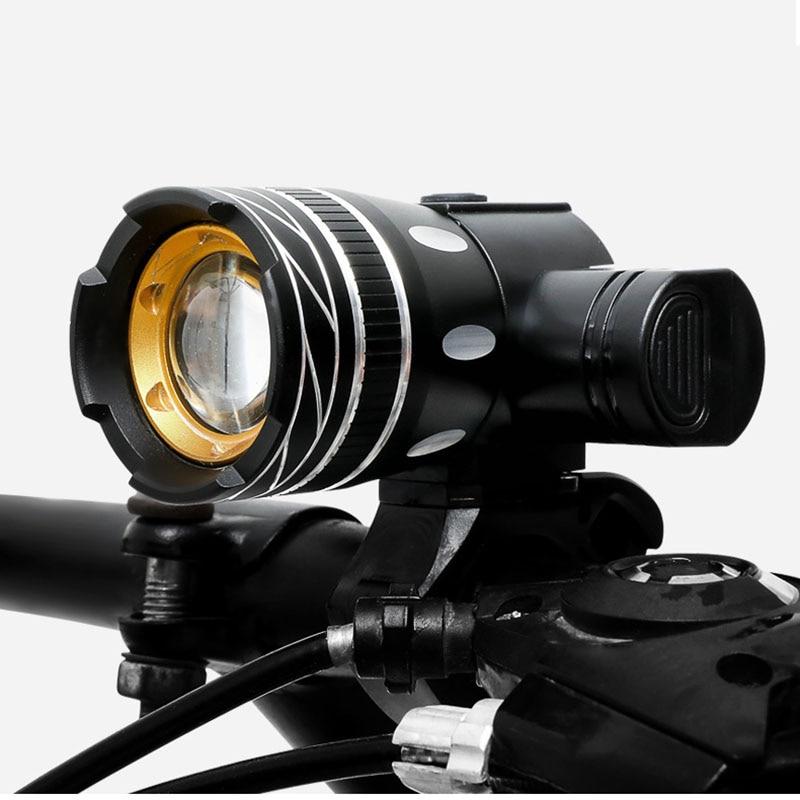 2400 мАч светодиодный велосипедный светильник 2000 люмен 3 режима велосипедный светильник USB зарядка алюминиевый сплав велосипедный светильник водонепроницаемый аксессуар для велосипеда