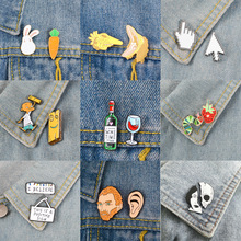 Enamel Pins Brooches Jewelry Badges Animal-Set Christmas-Lights PS Ai-Cursor Wine-Time