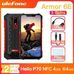 Ulefone Armor 6E водонепроницаемый IP68 NFC прочный мобильный телефон Helio P70 Otca-core Android 9,0 4 Гб + 64 Гб беспроводной зарядки смартфон