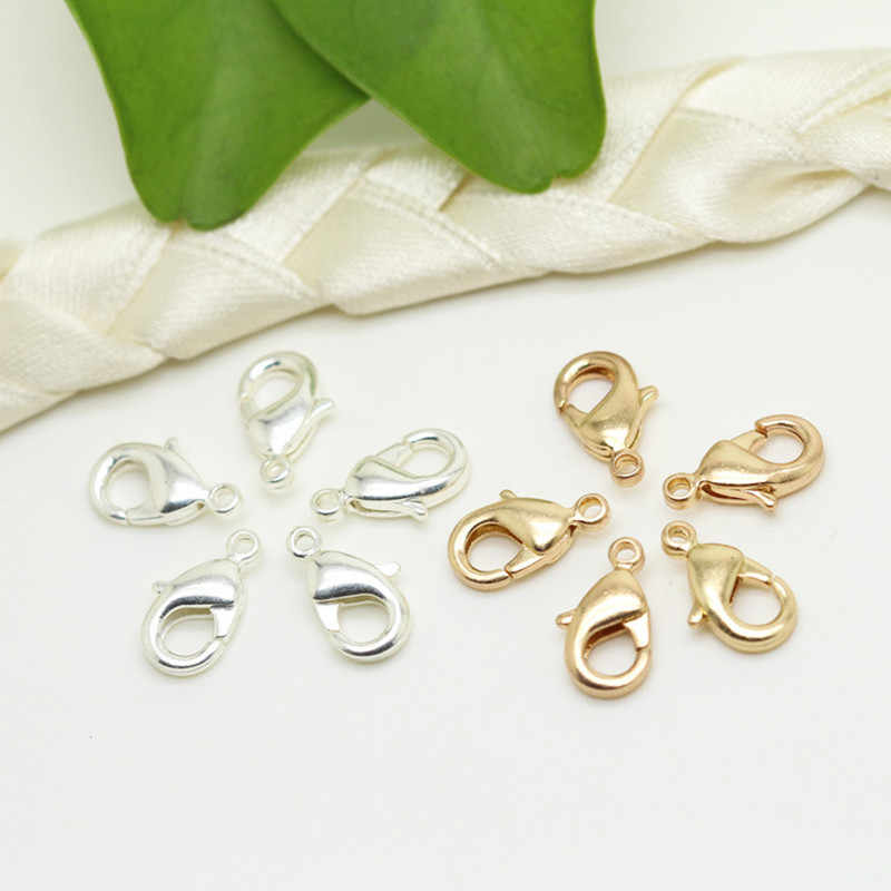 50pcs Lobster Clasps-10x5mm Alloy Claw Clasps for Jewelry Making Necklace Clasps Bracelet Clasps(Silver,10x5mm)