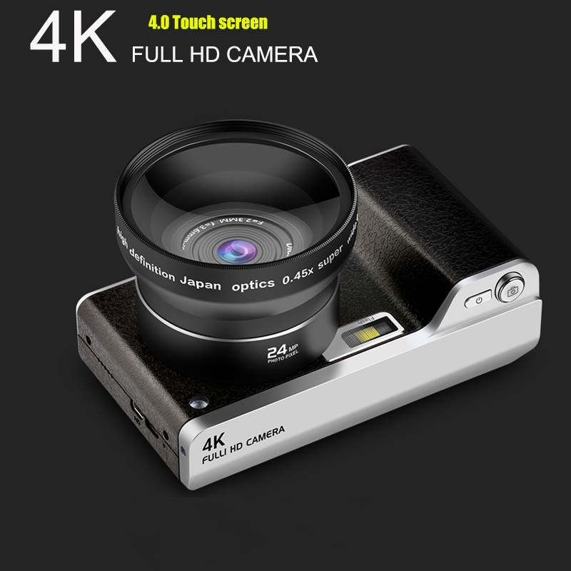 Video-Recorder Camera Touch-Screen High-Quality 8x-Zoom Full-Hd 24MP 1080P title=
