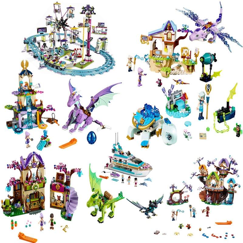 Legoing Friends Figures Elf Girls Series My World Dragon Knight Building Blocks Legoings Elves Animals Pet Elf Bricks Toys Gifts