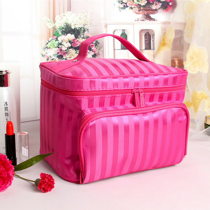 Cosmetic-Bags Organizer Toilet-Packs Hanging Traveling Zippers Large-Capacity Handy Women's title=