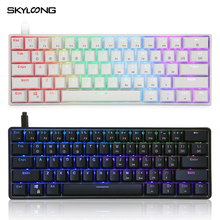 Mechanical-Gaming-Keyboard Programmable Illuminated Led-Backlit Skyloong Gk61 SK61 Multi-Color