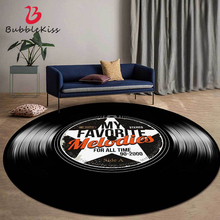 Round Carpet Floor-Mat Records-Pattern-Rug Vinyl Living-Room Bubble-Kiss Customized-Rug