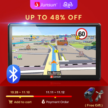 Junsun Car GPS Navigation Automobile Sat Nav Bluetooth D100 Europe Map FM HD 7-AVIN
