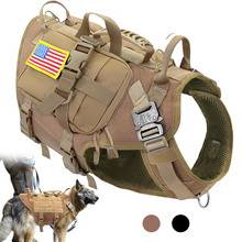 Vest Dog-Harness Training Molle Military Large Dogs Hiking Tactical No-Pull-Pet for Medium