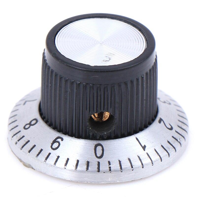 Perilla de plástico a presión en Potenciómetro Control De Volumen Tapa de sonido de eje estriado 6 mm