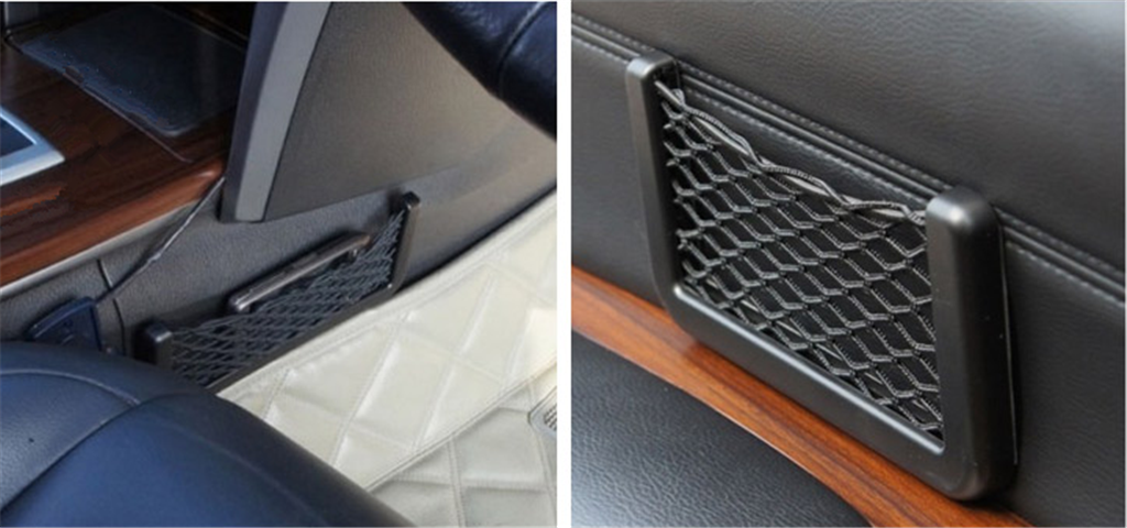 Universal Car Seat Side Back Storage Net Bag Phone Holder Pocket Organizer Stowing Tidying auto Auxiliary accessories