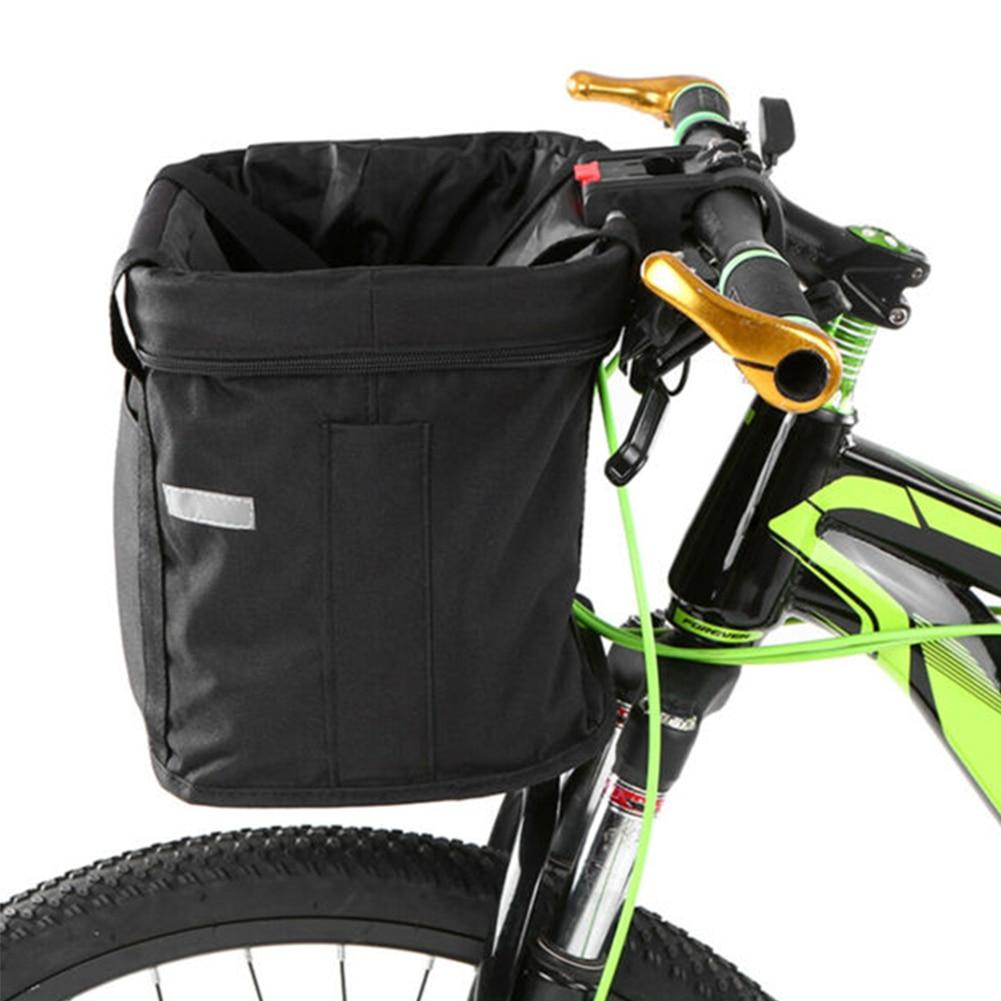 Delleu Cesta de Mimbre de Bicicleta Manillar Delantero Impermeable Cesta de Bicicleta Cesta de Carga de Bicicleta para Adultos con cintur/ón Fijo