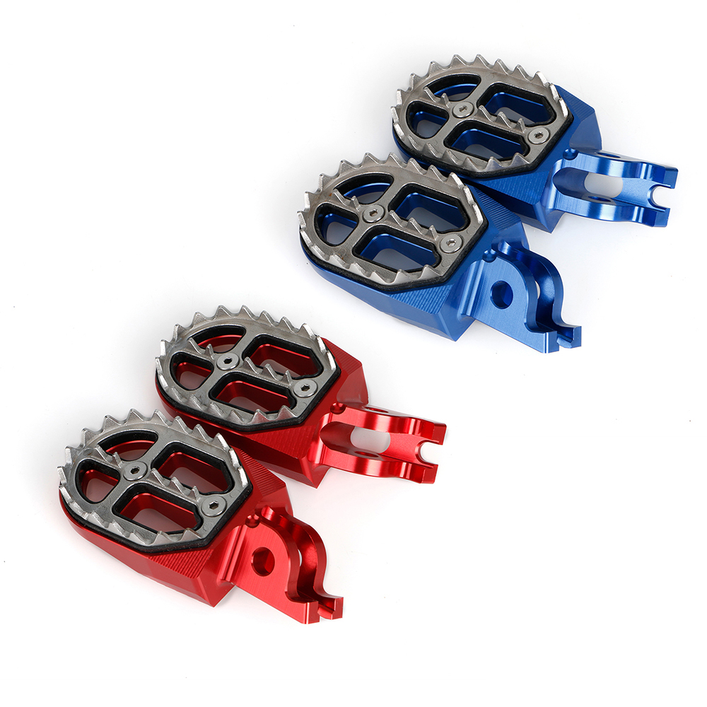 CFR 250X // 250R 2004-2015 CRF 450X // 450R 2002-2015 Red Alpha Rider Motorcycle Billet CNC Wide Foot Pegs Pedals Foot Rests For Honda Offroad CR125 // CR250 2002-2008 CRF150R 2007-2015