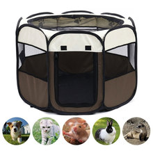Cage Playpen Pet-Tent Puppy-Kennel Dog-House Easy-Operation-Fence Folding Outdoor Portable