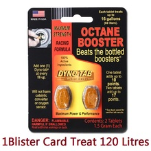 Card Octane Booster Dyno-Tab Fuel for Petrol-Only Maximizes Power-Increase Economy Eliminate