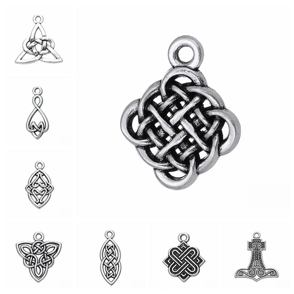 TE1927 Pack Of  10 Pcs Tree of Life Charms Antique Tibetan Silver Tone 2 Sided