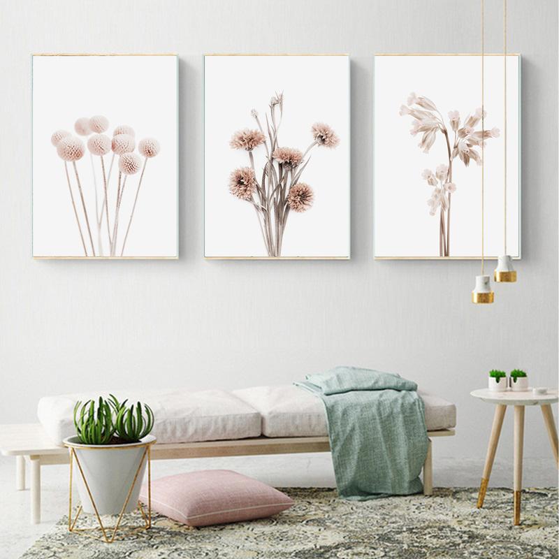 wekeke Leinwand Bilder Nordic Abstract Bunte Blume Leinwand Malerei Poster und Drucke Wandbilder f/ür K/üche Kinder Wohnzimmer Dekoration-40X60Cm Rahmenlos