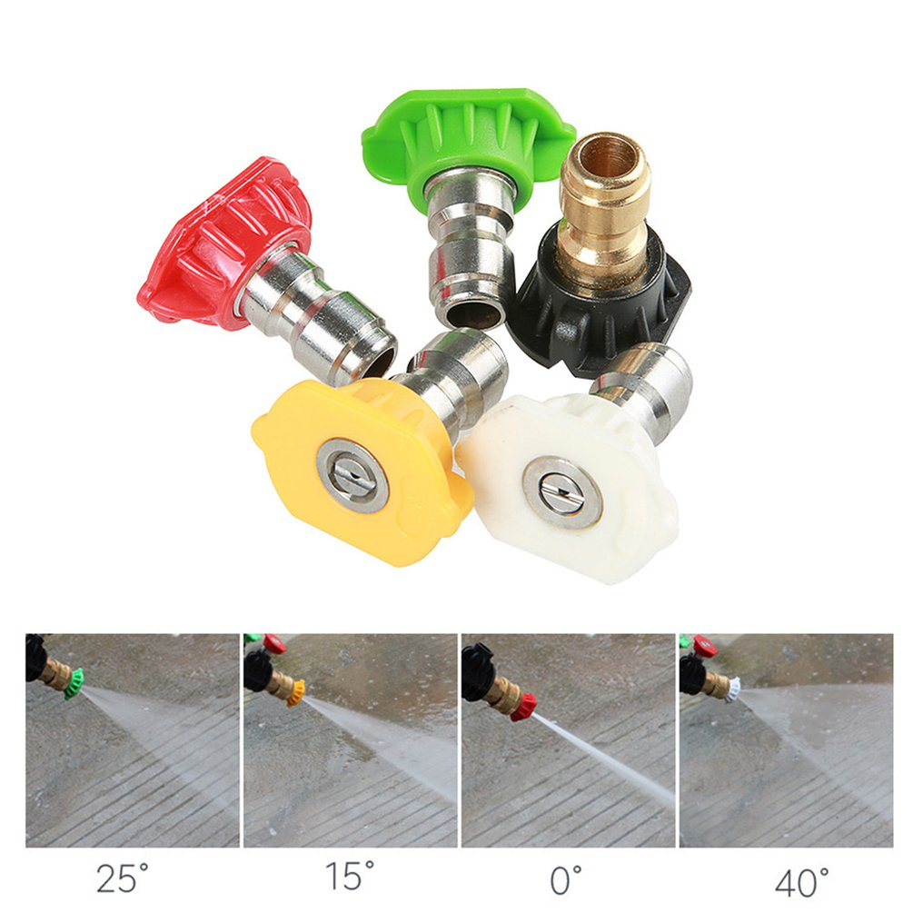 Nozzles Washer Gun Water-Jet Pressure 5-Color for 3000-Psi M22-Thread 1set title=