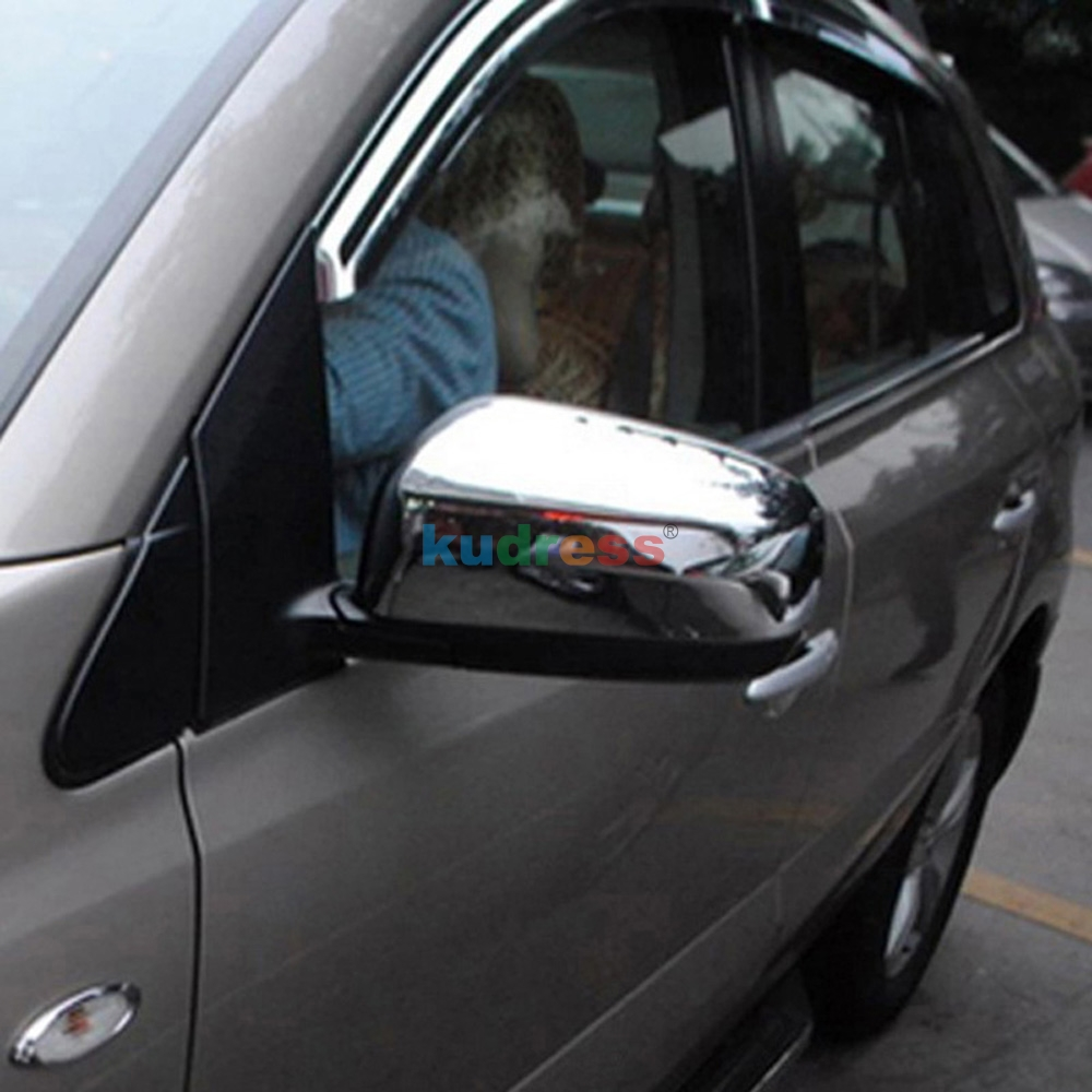 Chrome Rearview Mirror Wing Mirror Cover For RENAULT KOLEOS 2008 2009 2010 2011