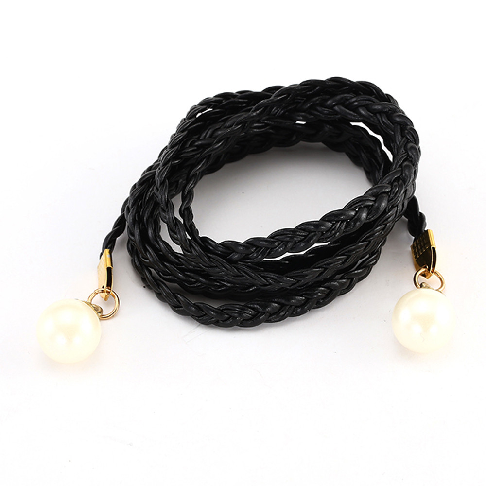 New hot tassel luxury thin belt candy color ladies simple elegant matching dress fur woven chain waist rope gifts