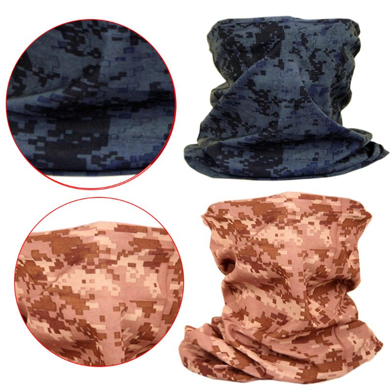 Unisex Military Digital Camouflage Neck Gaiter Tube Seamless Magic Face Cover Mask Scarf Sunscreen Bandana for Fishing Cycling