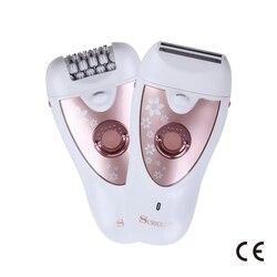 Новые продукты Sk-513 бритвенный выщипыватель двойного назначения Эпилятор моющийся клинок влажный и сухой двойного назначения светодиодная...