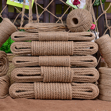 Jute-Rope Macrame-String Twisted-Cord Handmade-Decoration Natural Craft Hemp DIY 4mm