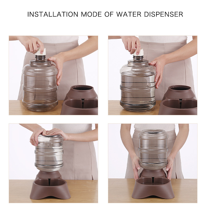 Pet Water Dispenser & Automatic Feeder Image