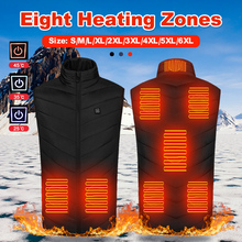 Winter Heating Vest Jacket Thermal-Clothing Termico Elektrich Chaleco New 9-Places