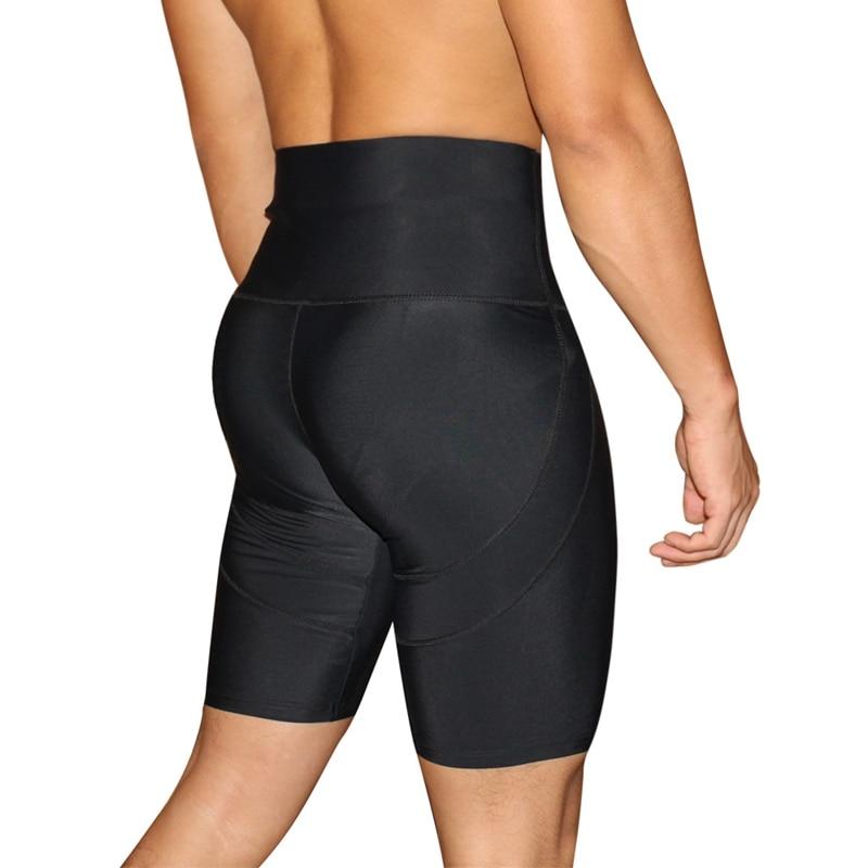 Black High Waist Men Slimming Body Shaper Panties Butt Lifter Waist Trainer Tummy Control Underwear Booty Male Boxers Leg Shaper
