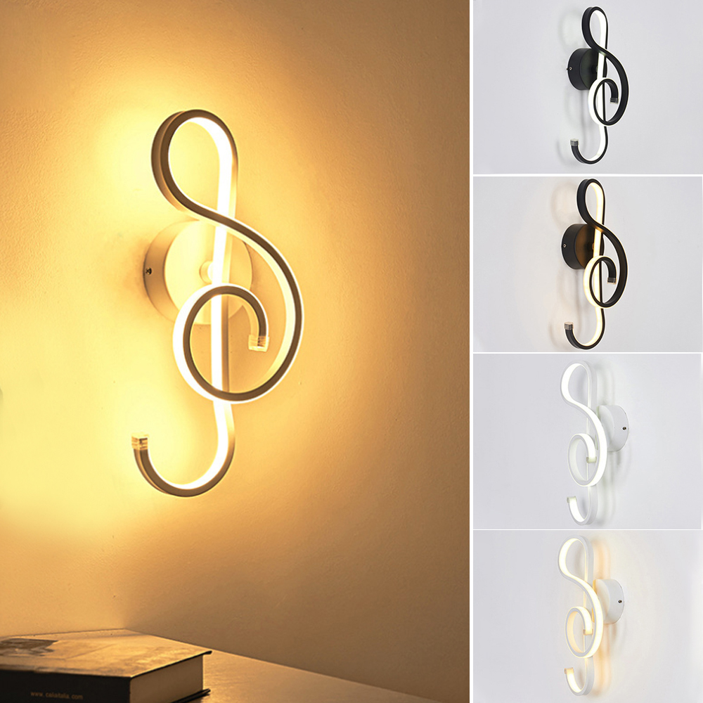 16W Wall Lamp Light LED Music Symbols Wall Lamp Living Room Bedroom Bedside Light Decorative Wall Sconce Lamp 1pcs