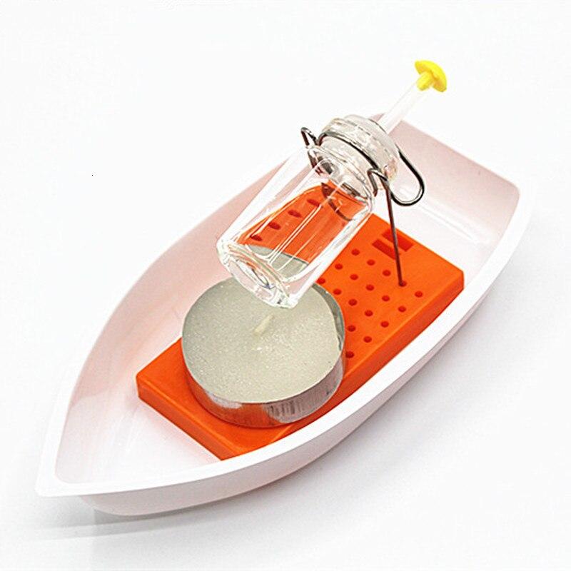 Kinder Wissenschaft DIY Dampfkerze Angetriebenes Schnellboot Modell Kit