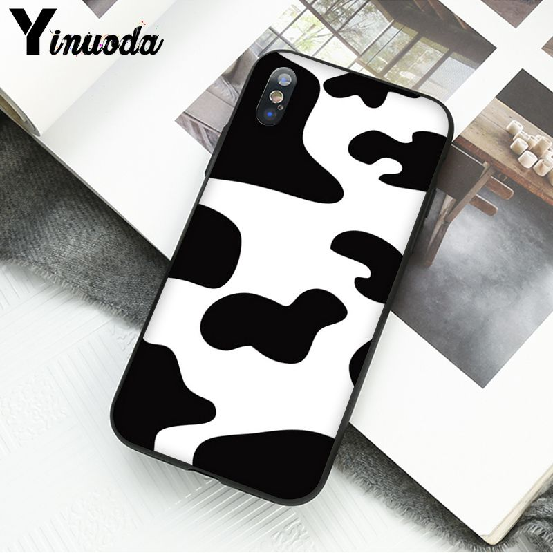 White Black Cow spots Symbol Pattern