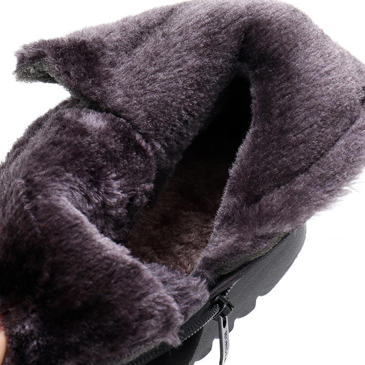 bota de inverno cano curto forrada em lã