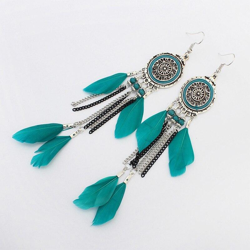 Boucles d'Oreilles Attrape Rêves en Argent Turquoise bijoux femme tenue unique style chic et bohème turquoise belle or massif style indien amérindienne capteurs de rêves