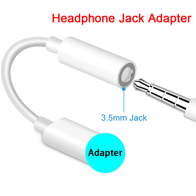 Jack-Cable Adapters Headphone 8-X-Female for IOS 11/12 To 7 title=