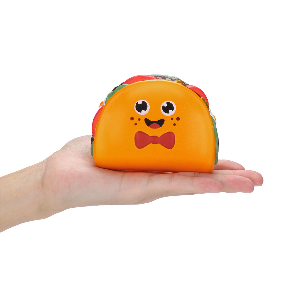 Squeeze Stress Reliever Expression Hamburger Slow Rising Toys Eliminate Antistress toy Cartoon food toy Girly Heart Pinch Fun #B