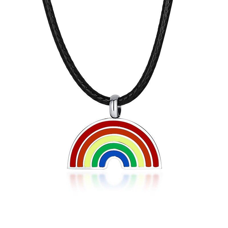 Modyle New Leather Chain Retro Charm Gay Lesbian Pride Cute