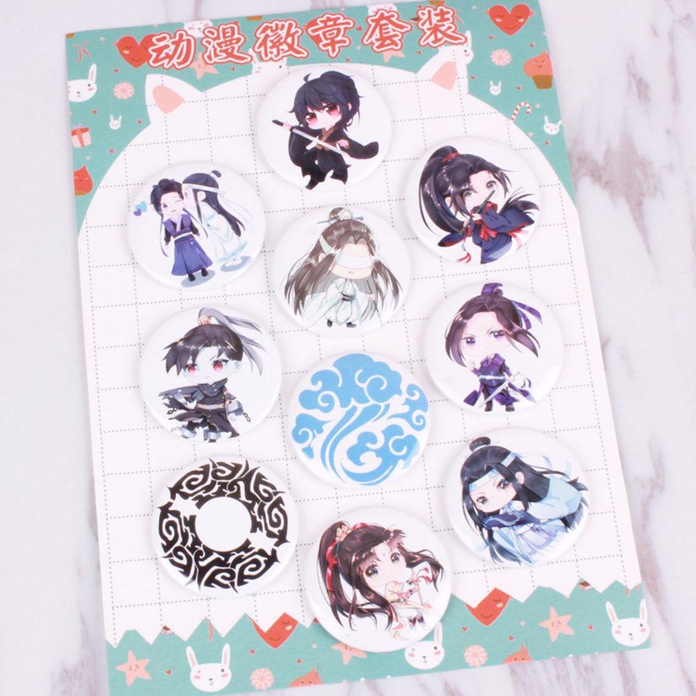 10pcs/Set Anime Costumes Badge MO DAO ZU SHI Brooch 58mm