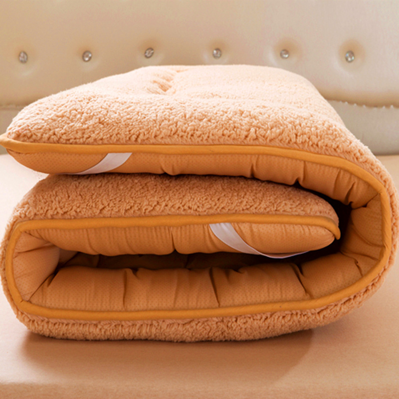 Winter Warm Berber Fleece Mattress Nonslip King Size Bed Mattress Pad Cushion Floor Ground Tatimi-mat